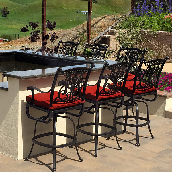Grand Tuscany Hanamint Outdoor Bar Stool