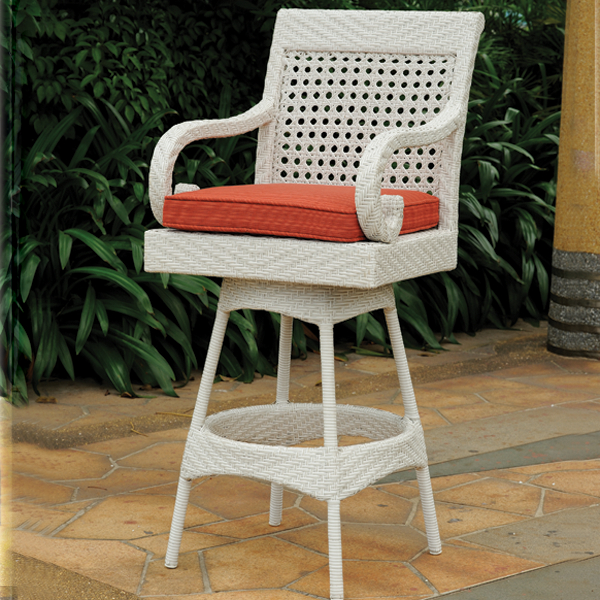 Halifax Outdoor Wicker Bar Stool Leisure Select Family Leisure