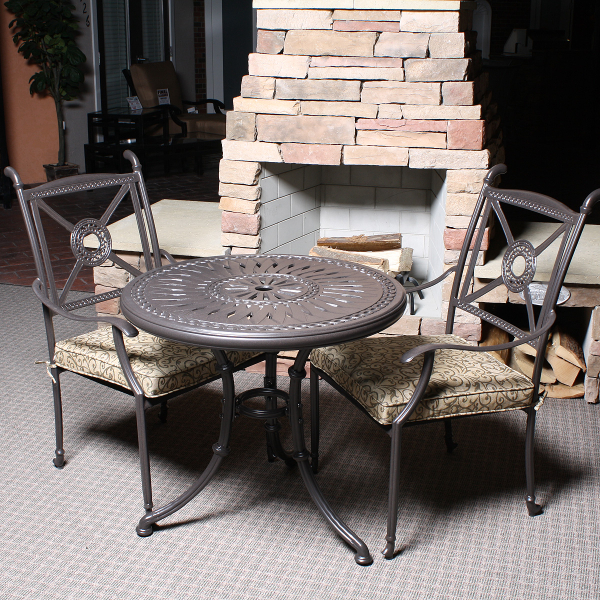 Hampshire 3 Piece Outdoor Bistro Patio Set Leisure Select Family Leisure