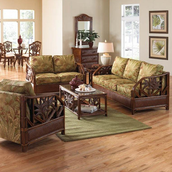 Patio Furniture For Living Room: Havana Palm Wicker Indoor Deep Seating By Panama Jack