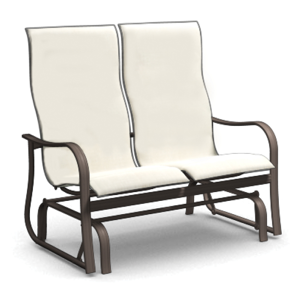 Holly Hill High Back Loveseat Glider By Homecrest Family