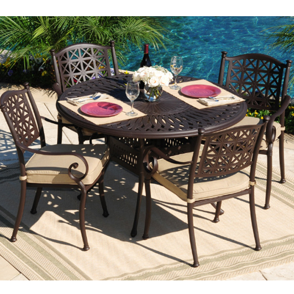 hollywood all weather cast aluminum outdoor furniture