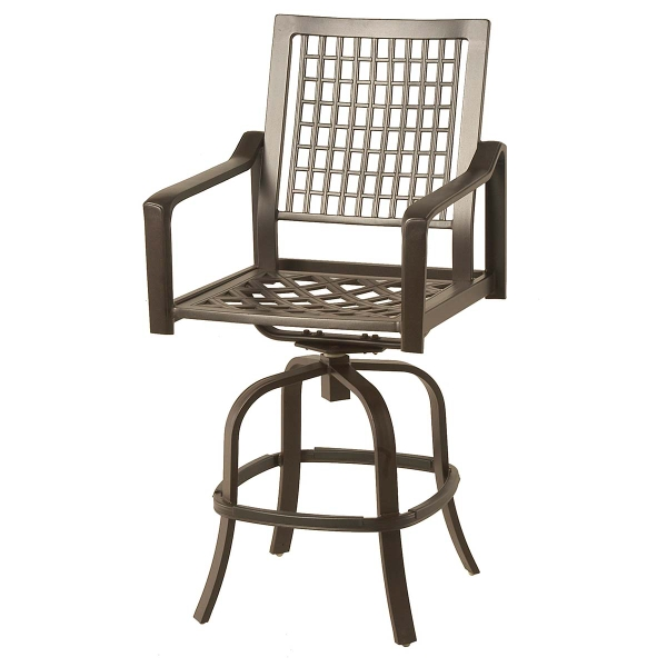 Hyde Park Bar Height Stool Outdoor Furniture Seating Hanamint Family Leisure