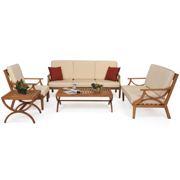 The Imperia Deep Seating Patio Set by Leisure Select