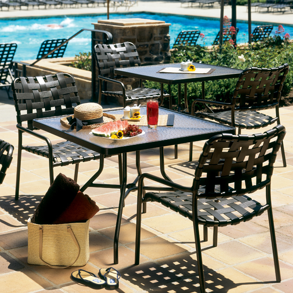 Kahana Cross Strap Patio Set By Tropitone Free Shipping