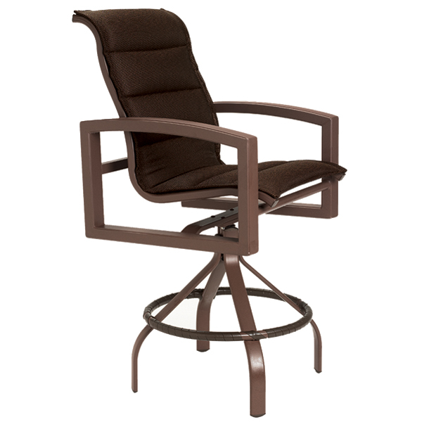 Casual Elegance At Lakeside Hideaway: Lakeside Padded Sling Bar Stool By Tropitone