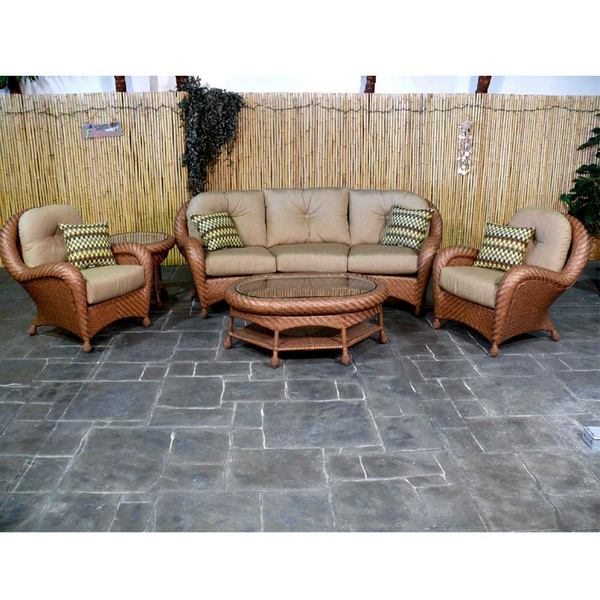 Mandalay Deep Seating Wicker Patio Furniture by Chicago Wicker