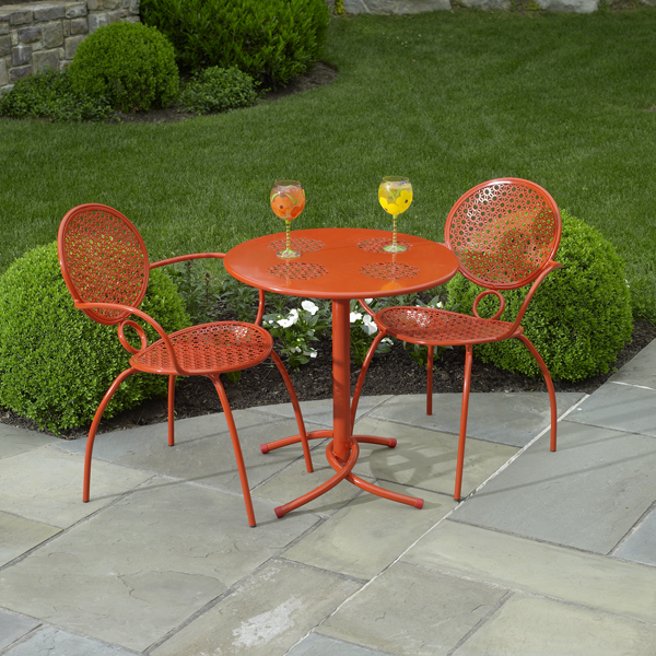The Margarita Bistro Set Blood Orange By Alfresco Home Family Leisure