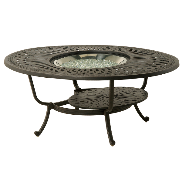 Mayfair 48 Round Gas Fire Pit Table by Hanamint