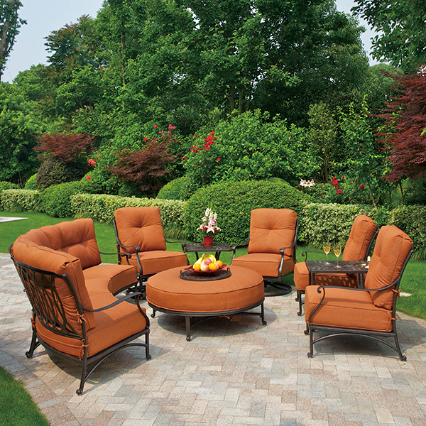 Mayfair Estate Deep Seating Sectional by Hanamint Patio Furniture