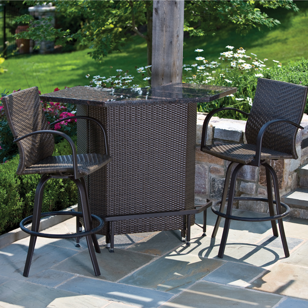 Vento Mezzo Outdoor Bar Set Patio Furniture By Alfresco
