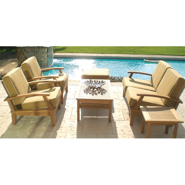 Miami teak bronze patio furniture by royal teak family for Outdoor furniture miami