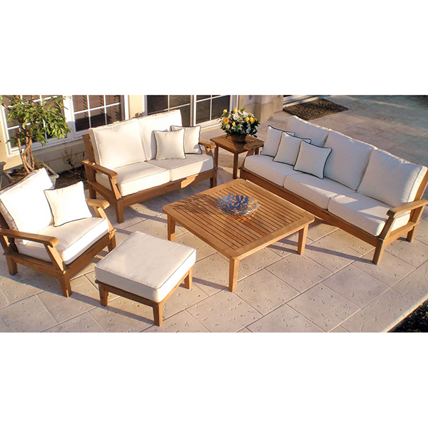 Miami teak white by royal teak collection patio for Outdoor furniture miami