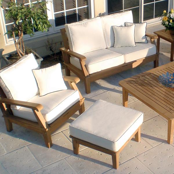 Miami Outdoor Furniture : Miami Teak - White by Royal Teak Collection  Patio Furniture  Family ...