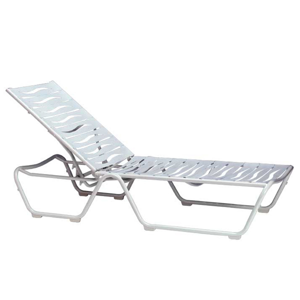 Millennia outdoor strap chaise lounge by tropitone for Atlantis wicker patio chaise lounge