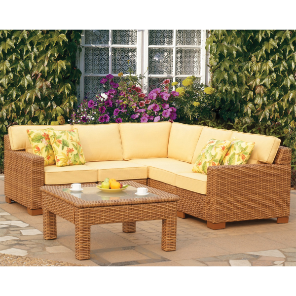 Miriana Wicker Sectional by Leisure Select