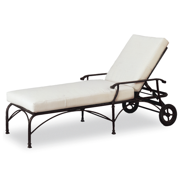 Monte cristo chaise lounge by cast classics patio for Cast iron chaise lounge