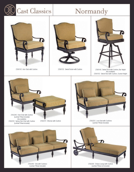 Deep Seating Patio Furniture Cushions: Normandy Cast Deep Seating Patio Furniture By Cast Classic
