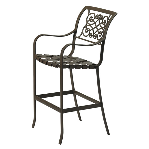 Palladian Verona Cast Aluminum Outdoor Bar Stool by