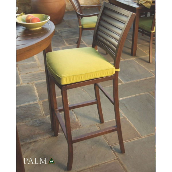 Palm Wrought Aluminum Bar Stool By Summer Classics Family Leisure