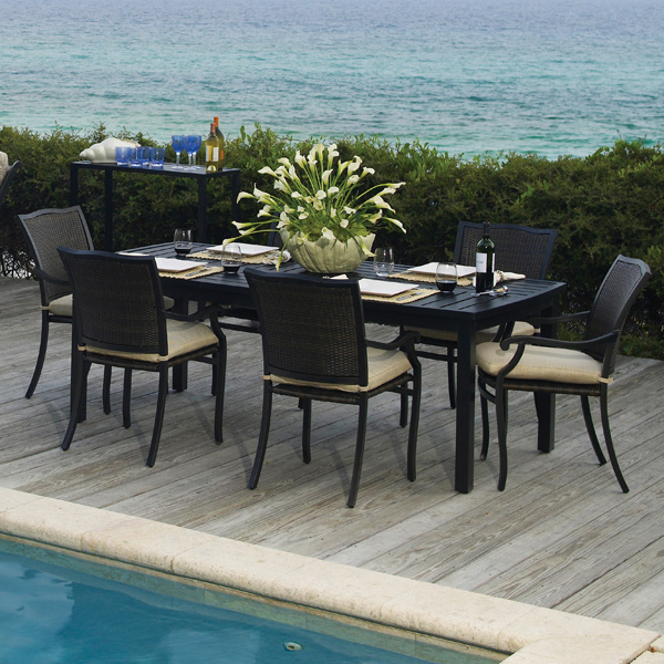 Plaza Dining Wicker Patio Furniture by Summer Classics
