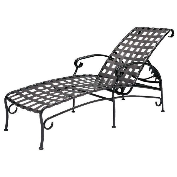 Ramsgate Strap Chaise Lounge By Woodard Outdoor Patio