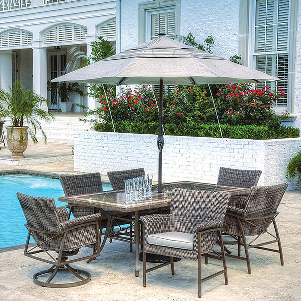 The Rio Dining Set By Veranda Classics Outdoor Patio Furniture Family Lei