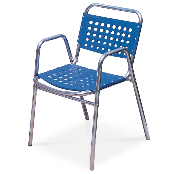 Santorini mercial Contract Patio Chair 4 Pack by Leisure Select