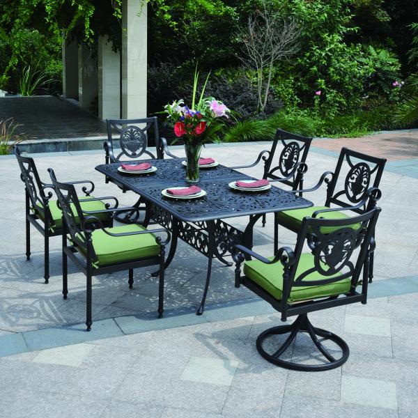 Sensazionale ii cast aluminum dining patio furniture by for Hanamint patio furniture
