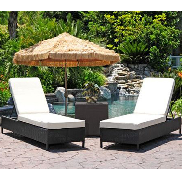 Sicily All Weather Wicker Chaise Lounge Set Family Leisure