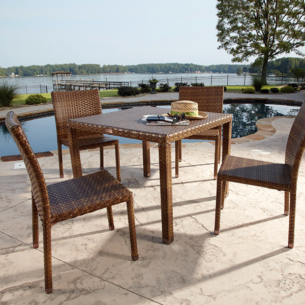 casual patio furniture st barths 5 pc arm chair dining set