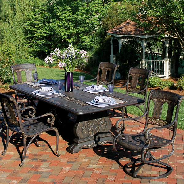 St Moritz Cast Aluminum Dining Patio Furniture by
