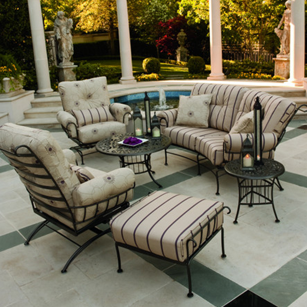 terrace wrought iron deep seating patio furniture by