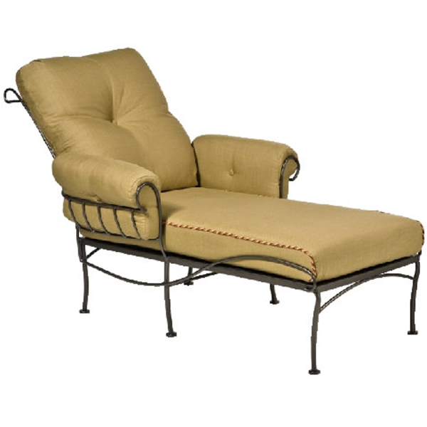 Terrace Wrought Iron Chaise Lounge Patio Furniture by Woodard