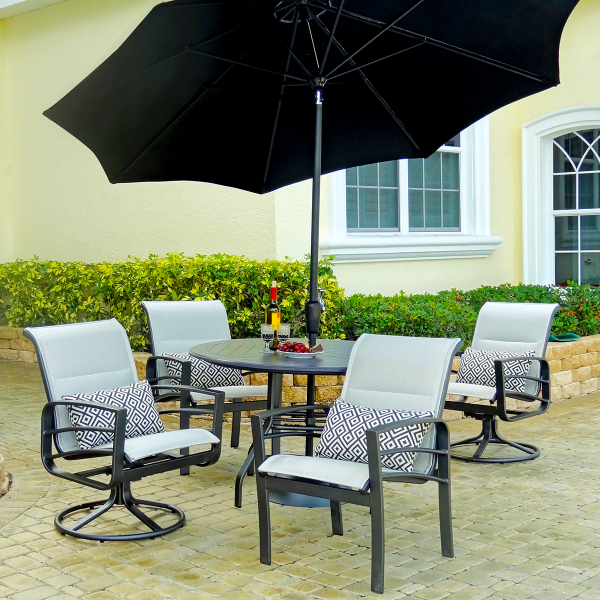 casual patio furniture the skyway sling dining collection