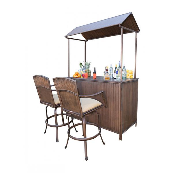 tiki bar 3 pc barstool set by panama family leisure