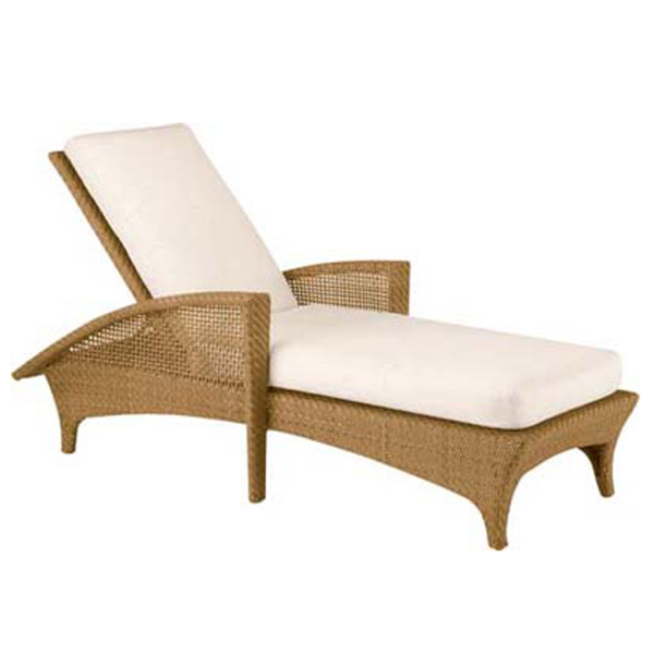 Trinidad Wicker Chaise Lounge by Woodard Patio Furniture