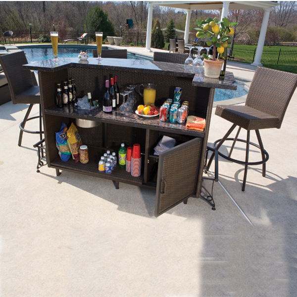 Outdoor Furniture Bar Set to pin on Pinterest