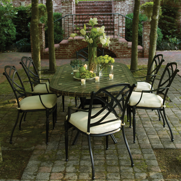 Westport Cast Aluminum Patio Set by Summer Classics Free Shipping