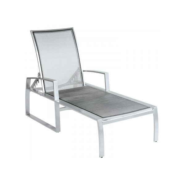 Wyatt flex sling chaise lounge by woodard outdoor patio for Casual chaise lounge