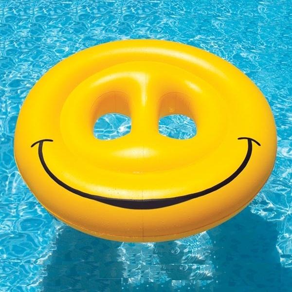 Smiley Face Fun Island By Swimline Pool Supplies