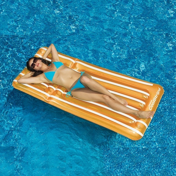 Coolstripe lounger by swimline pool supplies family for Affordable pools and supplies