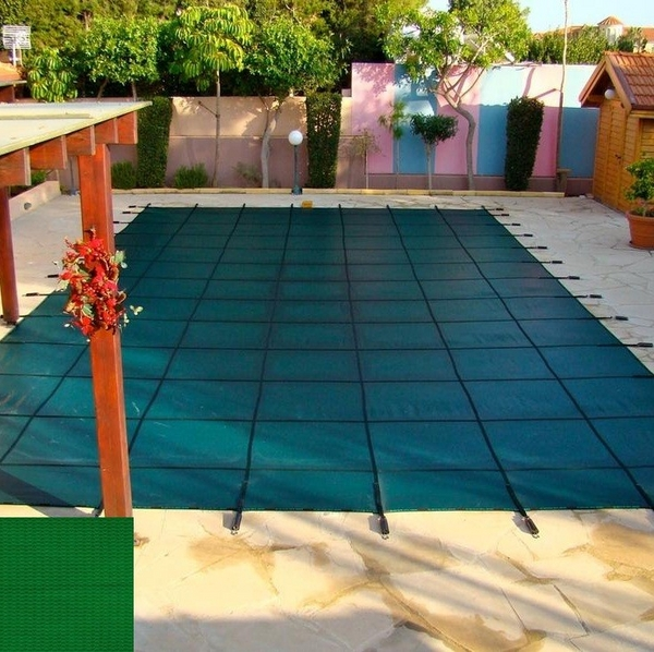 Rectangle Pool Cover With Solid Green Material By Coverlon Pool Covers Family Leisure