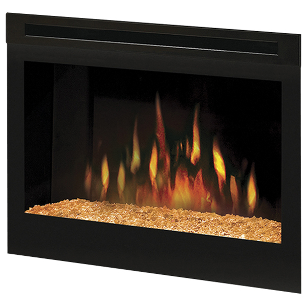 Electric Fireplaces By Dimplex 25 Self Trimming Firebox W Glass Ember Bed Family Leisure