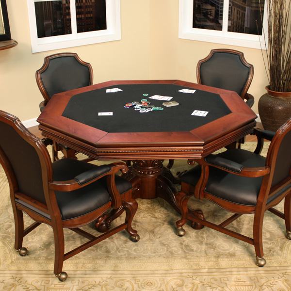 Milano 2 in 1 Poker Table with Chairs by American Heritage