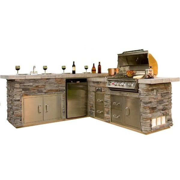 Outdoor grills with island images for Outdoor kitchen grill island