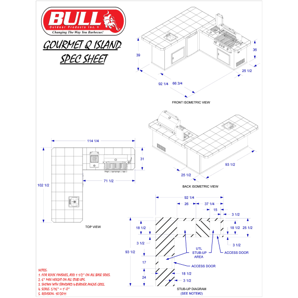 Gourmet Q Outdoor Grill Island By Bull Outdoor Products: Gourmet-Q Outdoor Grill Island By Bull Outdoor Products