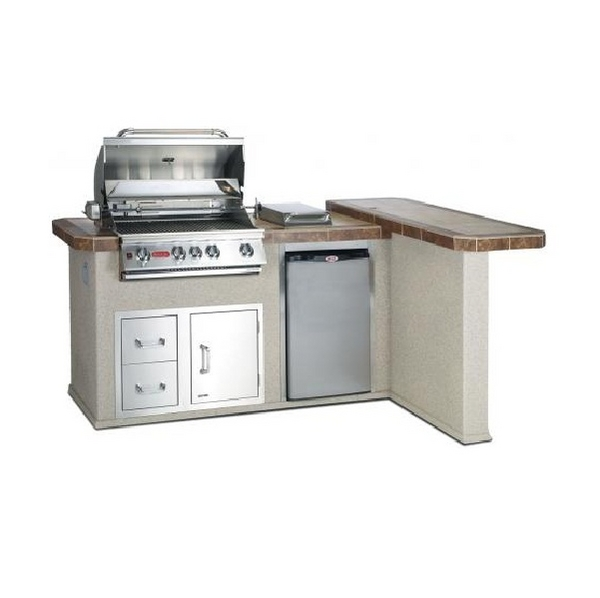 Gourmet Q Outdoor Grill Island By Bull Outdoor Products: Stucco Grill Island By Bull