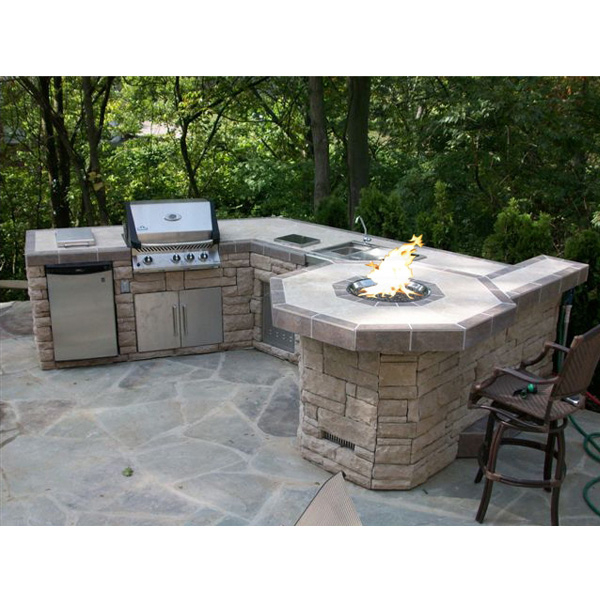 custom outdoor stone grill bbq islands family leisure On outdoor stone grill
