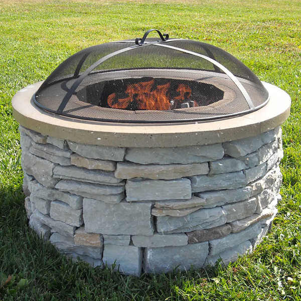 Wood-Burning Outdoor Fire Pit Design